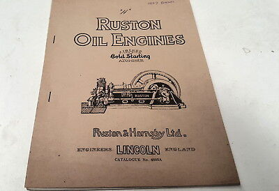 1927 RUSTON OIL ENGINES Catalogue