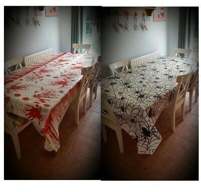 Long Halloween Tablecloth Cloth Party Decoration Table Cover Accessories 136x265