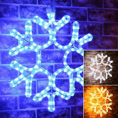 ConnectPro Connectable Outdoor Christmas LED Snowflake Motif | Garden Rope Light