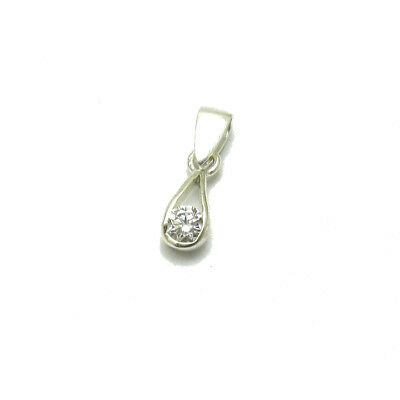 Sterling silver pendant solid 925 Heart with CZ PE001166 EMPRESS
