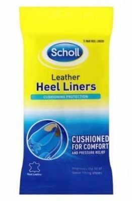 Scholl Leather Heel Liner Liners Cushioned For Comfort One Pair Pack