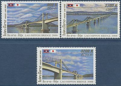 LAOS N°1388/1390** Pont Laos Japon, 2000, Lao-Nippon Bridge Set MNH