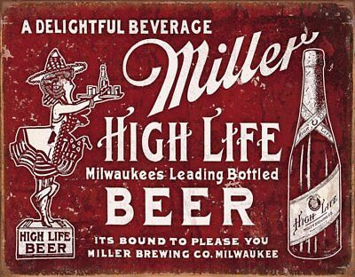 Miller Beer Bound to Please Tin Sign