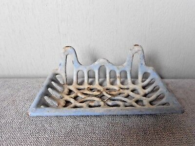 Old French cast iron BLUE Soap Dish Holder
