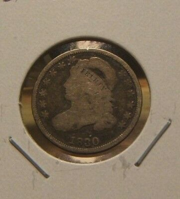 1830 Capped Bust Dime~~Silver Key Date~~Vg+