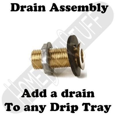 Drain Conversion Assembly for Draft Beer Drip Tray Homebrew Kegerator