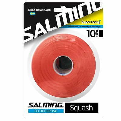 Salming SuperTacky Plus Sturdy Squash Tacky Overgrip - Pack of 10