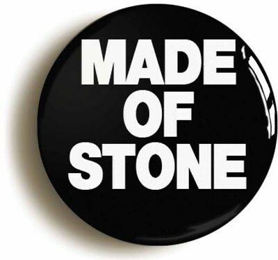 MADE OF STONE EIGHTIES BADGE BUTTON PIN (Size is 1inch/25mm diameter)