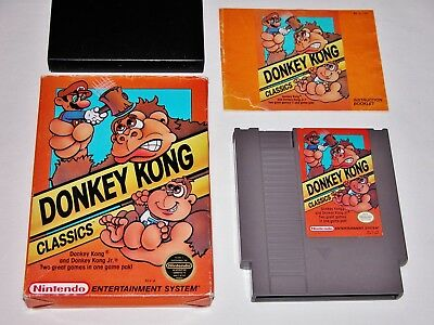 Donkey Kong Classics Complete in Box Game for Original Nintendo Console NES CIB