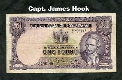 *ND (1940-55) NEW ZEALAND 1 POUND PICK 159a  FINE++ PLEASE LQQK!!!!!!