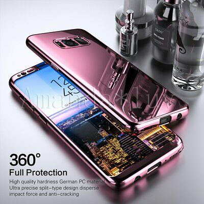 Hybrid 360° Hard Mirror Case +Screen Protector Cover For Samsung Galaxy S10 Plus