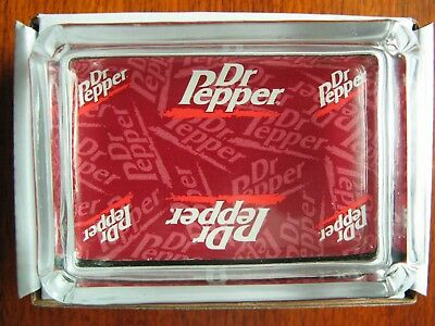 Dr Pepper Glass Paperweight  - Ring or Candy Tray - Key , Candle or Ashtray NIB