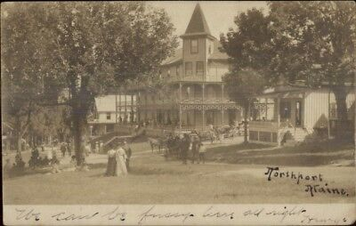 Northport ME Hotel or Inn c1905 Real Photo Postcard #8