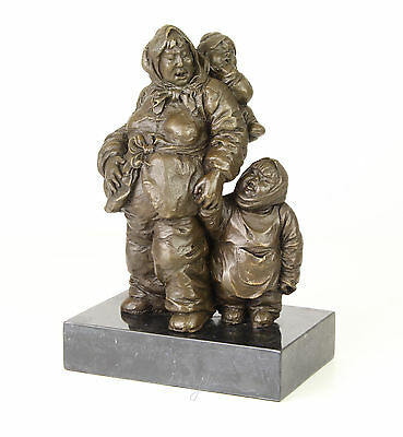 Bronze Sculpture Mother with children Group of figurines Farmers 99937967-dss