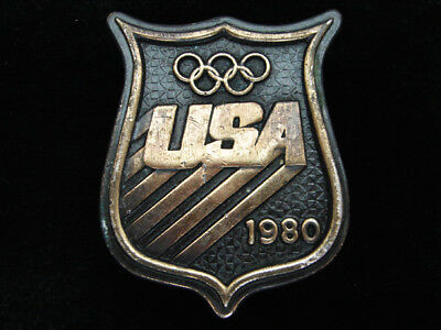 Qc01145 Vintage 1980 **usa Olympic Games** Sports Commemorative Bergamot Buckle
