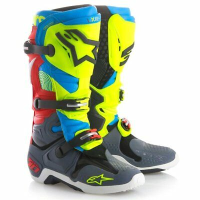 Alpinestars Tech 10 Union Limited Edition Mens MX Offroad Boots Red/Blue