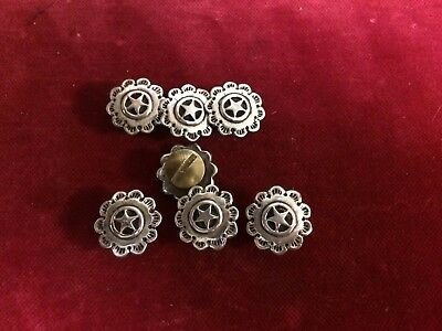 Conchos 8 Sterling Scalloped Star, post & screw
