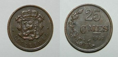 Luxembourg : 25 Centimes 1947