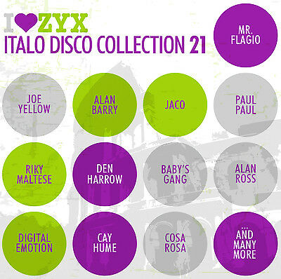 CD ZYX ITALO DISCO COLLECTION vol. 21 by Various Artists 3 CDs