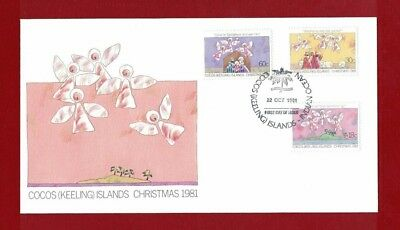 1981 Cocos Keeling Islands SG 72/4 Christmas FDC or fine used