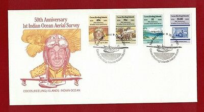 1989 Cocos Keeling Islands SG 207/10 50th Anniv. Aerial Survey FDC or fine used