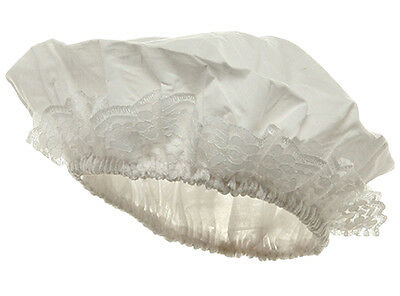 1700'S Style White Victorian Colonial Mob Maid Hat Cap Costume Bonnet Lady Wench