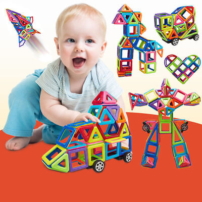 91PCS DIY Educational Magnetic Blocks Construction Building Kids Toy Gift