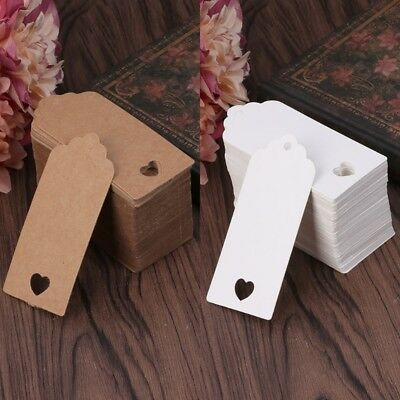 100Pcs Blank Kraft Paper Card Hang Luggage Tag Label Christmas Wedding Crafts
