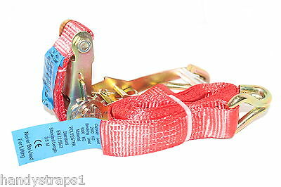 6 meter x 50mm Red  Ratchets Tie Down Straps  5 tons Lorry Lashing