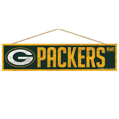 Green Bay Packers Holzschild Türschild 43 cm,NFL Football,Fan Cave Wood Sign