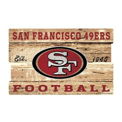 San Francisco 49 ers XXL Holzschild 76 cm ! !,NFL Football,Plank Wood Sign