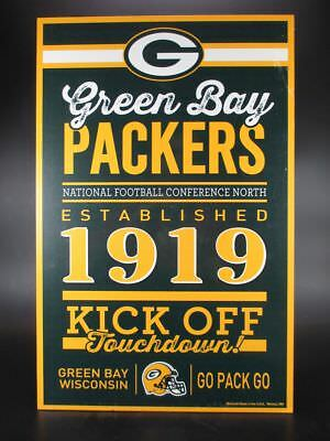 Green Bay Packers Holzschild 43 cm NFL Football,Established Wood Sign