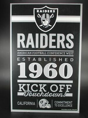 Oakland Raiders Holzschild 43 cm NFL Football,Established Wood Sign
