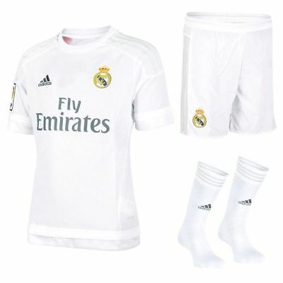 adidas REAL MADRID CHILDREN'S MINI FOOTBALL KIT BOYS GIRLS 9-10Y SOCCER LA LIGA