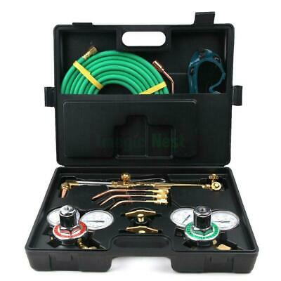 Gas Welding Cutting Welder Kit Victor Oxy Acetylene Oxygen Torch with Hose Case