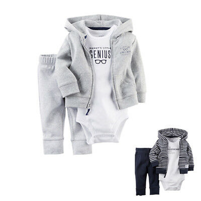 New Carters Newborn 6 9 12 18 24 Month Cardigan Set Outfit Baby Boy Girl Clothes