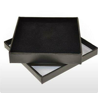 Slim Black Jewellery Gift Cardboard Necklace Box choose 1 or 4