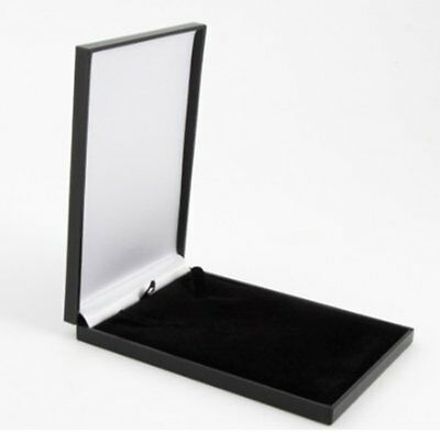 Slim Leatherette Jewellery Gift Box: Satin-lined for Necklace/Pendant