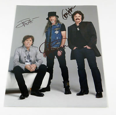The Doobie Brothers Signed 11 x 14 Color Photo Pose #1 3 Autos