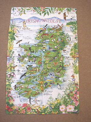 Irish Wildlife Tea Towel, made in Ireland