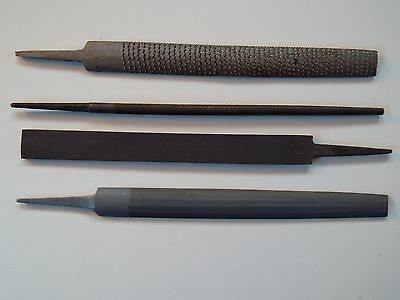 "4 PIECE - 200mm / 8"" FILE SET -  METAL FILE SET for Metal work + WOOD RASP - NEW"