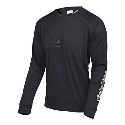 Troy Lee Designs Moto Solid Mens Bicycle Jersey Black