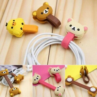 1pcs Cartoon Earphone Cord Winder Wrap organizer Earbud Cable Ties Holder Cute