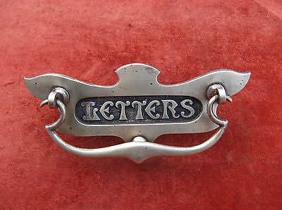Art Deco Brass Letterbox Door Knocker/letter Receiver/antique Brass Door Knocker