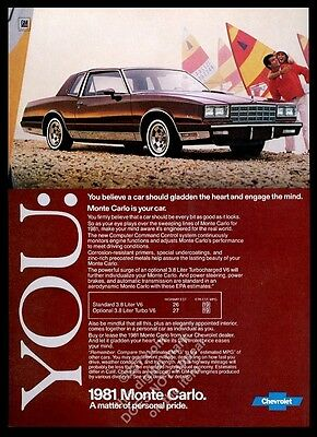 1981 Chevrolet Monte Carlo car photo vintage print ad