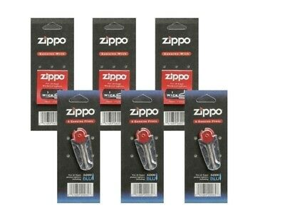 Zippo Genuine Flints & Wicks - 3 Pack Flints & 3 Wicks