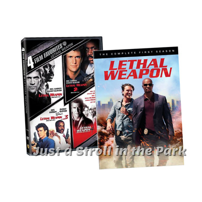Lethal Weapon: Complete Movies 1 2 3 4 + TV Series Season 1 Box / DVD Set(s) NEW