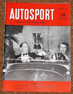 Autosport 21/11/52 - DAILY EXPRESS NATIONAL RALLY - VINCENT BLACK SHADOW TEST