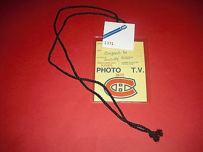 1989 Nhl Stanley Cup Final Calgary Flames V Montreal Canadiens Hockey Media Pass