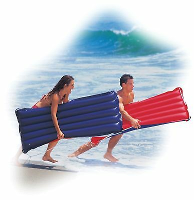 """Intex Big Canvas Surf Rider Inflatable Pool Beach Float Lounge 60""""x29"""" RED"""